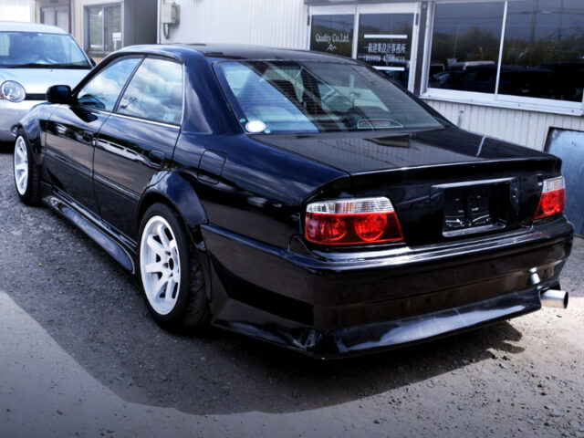 REAR EXTERIOR OF JZX100 CHASER WIDEBODY.