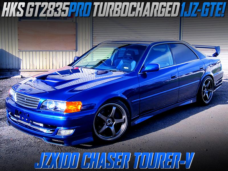GT2835PRO TURBOCHARGED JZX100 CHASER TOURER-V BLUE.
