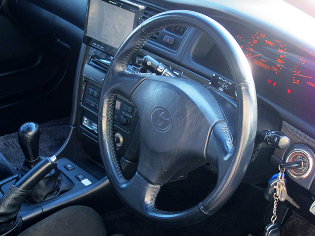 DRIVER'S STEERING AND DASHBOARD.