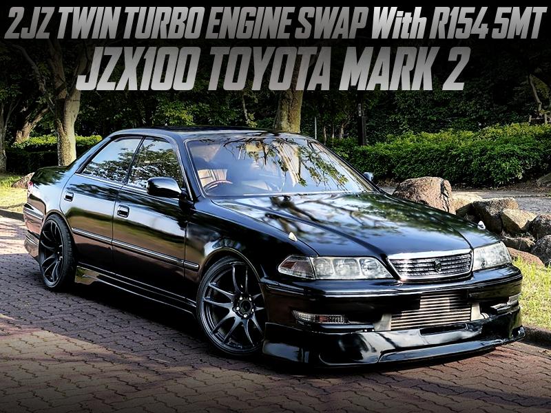 2JZ-GTE TWIN TURBO SWAPPED JZX100 MARK2.