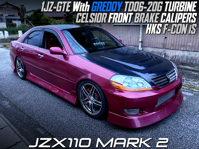1JZ with TD06-20G TURBO and FCON iS OF JZX110 MARK2.