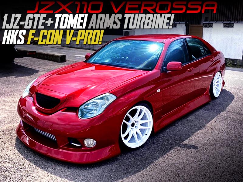 TOMEI ARMS TURBINE and F-CON V-PRO MODIFIED JZX110 VEROSSA.