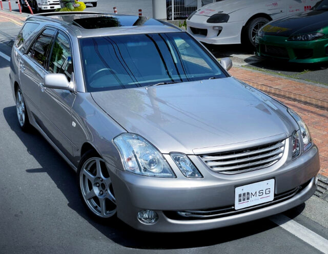 FRONT EXTERIOR OF JZX110W MARK2 BLIT SILVER.