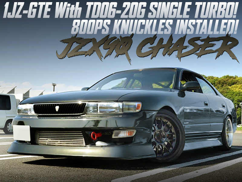 1JZ-GTE with TD06-20G SINGLE TURBO into JZX90 CHASER.