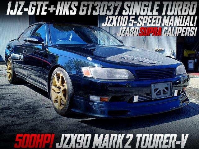 1JZ-GTE with GT3037 SINGLE TURBO into JZX90 MARK 2 TOURER-V.