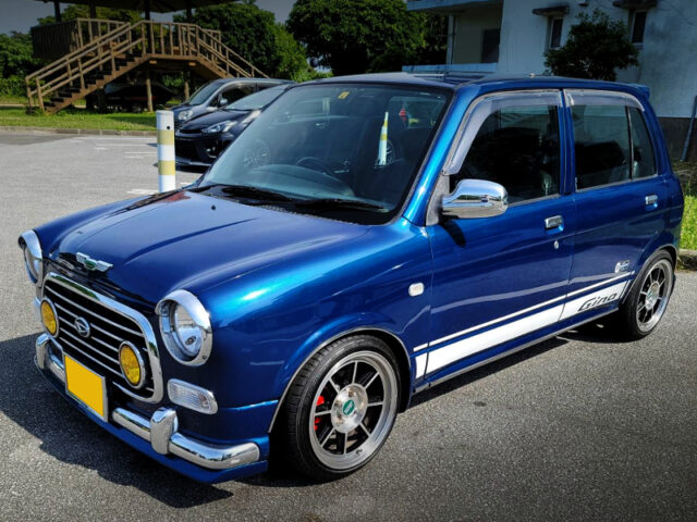 FRONT SIDE EXTERIOR OF 1st Gen MIRA GINO BLUE.