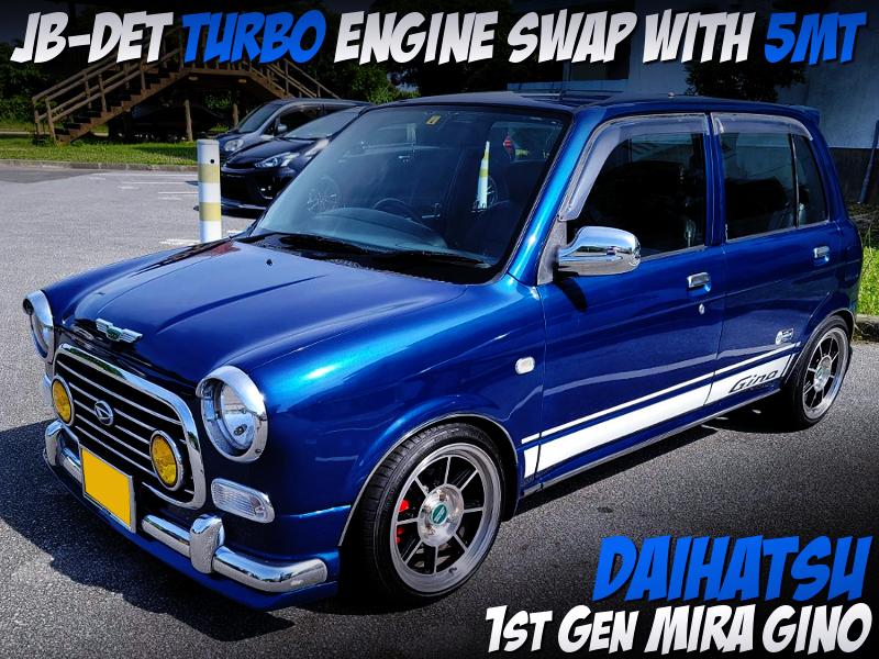 JBDET TURBO ENGINE SWAPPED 1st Gen MIRA GINO BLUE.