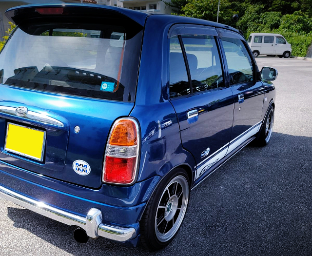 BACK SIDE EXTERIOR OF 1st Gen MIRA GINO BLUE.