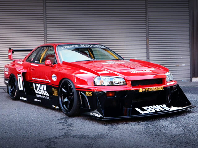 FRONT EXTERIOR OF ER34 SKYLINE 25GT-T with LB SUPER SILHOUETTE.