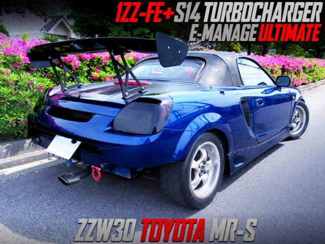 1ZZ-FE with S14 TURBOCHARGER into ZZW30 TOYORA MR-S.