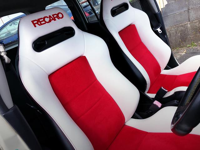 CUSTOM RECARO SEATS.