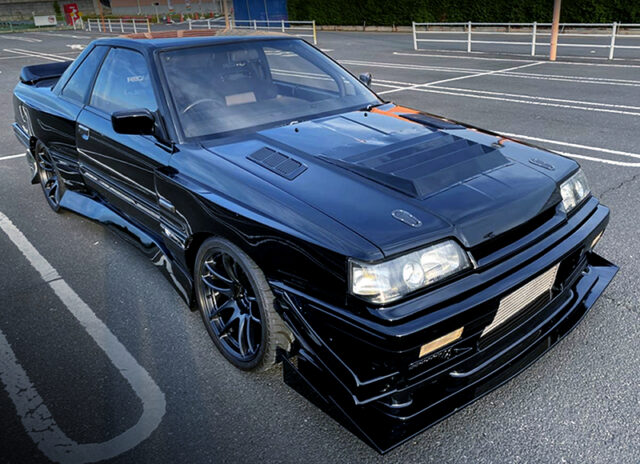 FRONT EXTERIOR OF R31 SKYLINE GTS-R with WIDEBODY.
