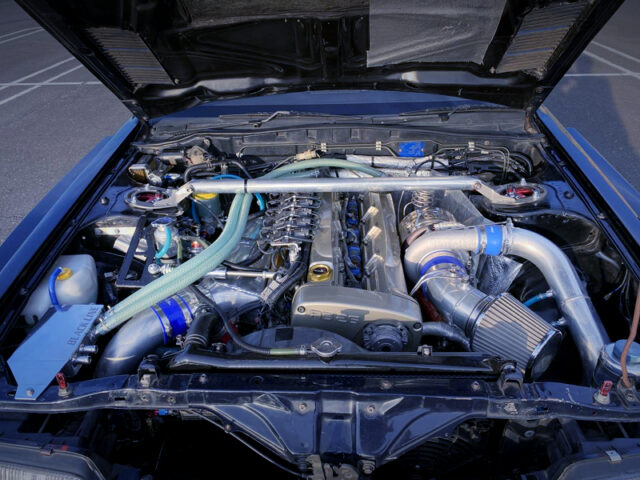 RB26 with 2.7L STROKER and GTX3584RS SINGLE TURBO.