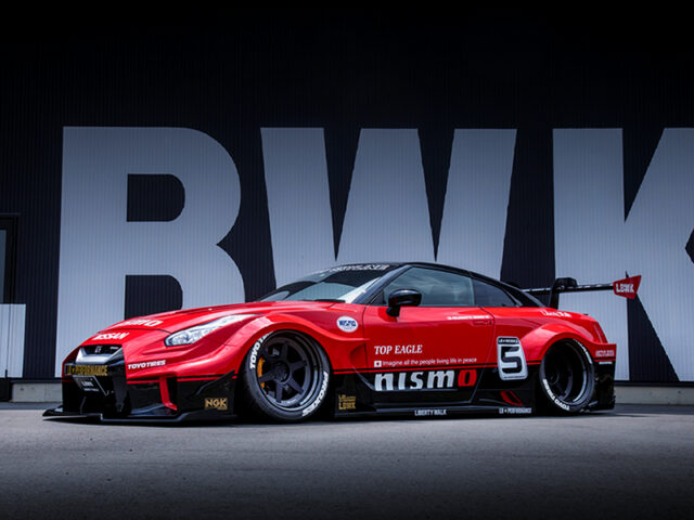 FRONT EXTERIOR OF NISSAN GT-R NISMO with LB-Silhouette WORKS.