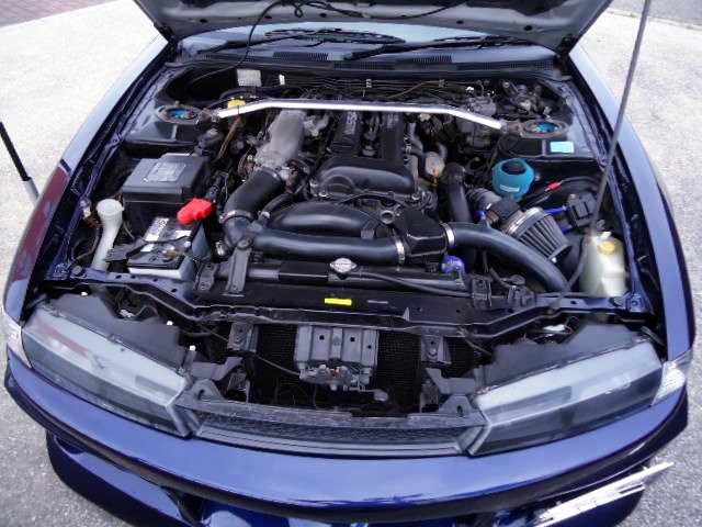 S14 SR20DET BLACK TOP TURBO ENGINE.