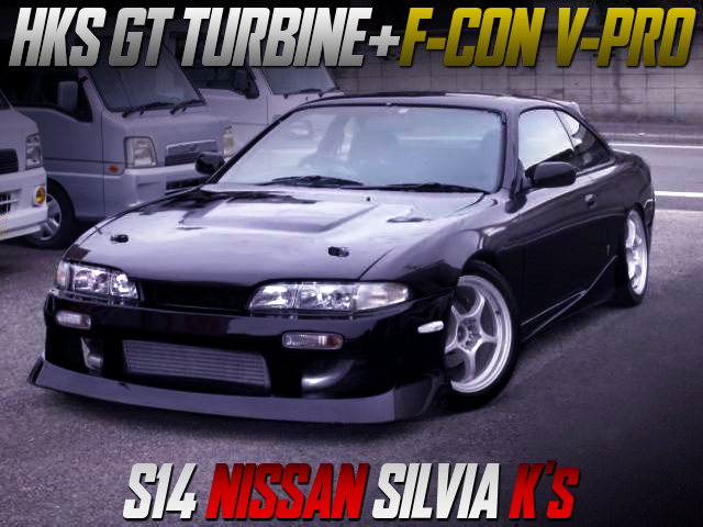 HKS GT TURBINE and F-CON V-PRO INSTALLED S14 SILVIA Ks with DEEP PURPLE PAINT.