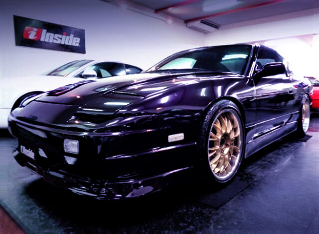 FRONT EXTERIOR OF 180SX MIDNIGHT PURPLE.