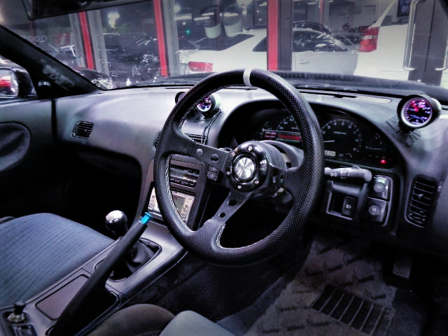 DRIVER'S DASHBOARD and STEERING.