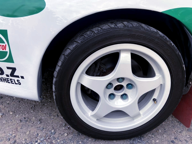 WHEEL with WHITE PAINT.