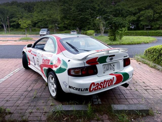 REAR EXTERIOR OF WRC REPLICA ST202 CELICA SS1.