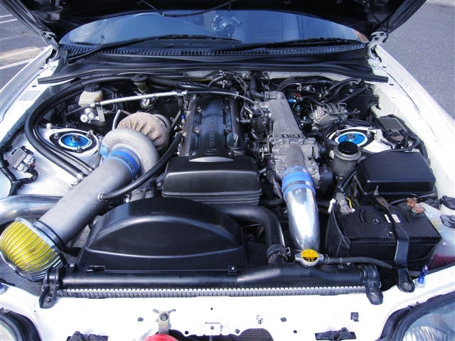 2JZ-GTE ENGINE with T88-33D SINGLE TURBO.