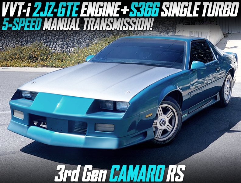 2JZ-GTE with S366 SINGLE TURBO MODIFIED CHEVROLET CAMARO RS.