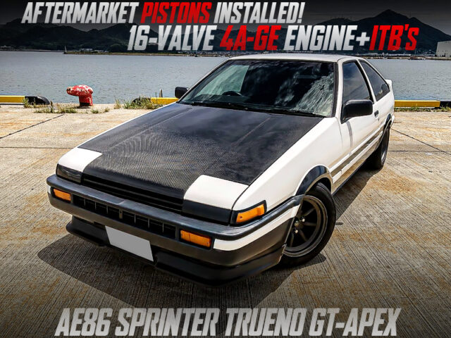 16V 4AG with AFTERMARKET PISTONA and ITBs MODIFIED AE86 TRUENO GT-APEX.