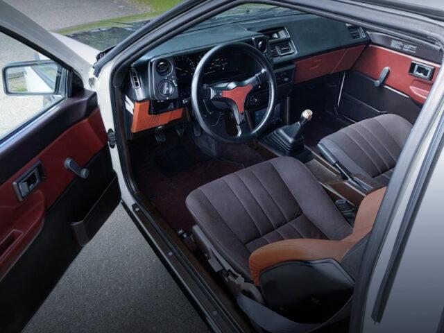 LEFT HAND DRIVE INTERIOR OF AE86 COROLLA GT-S.