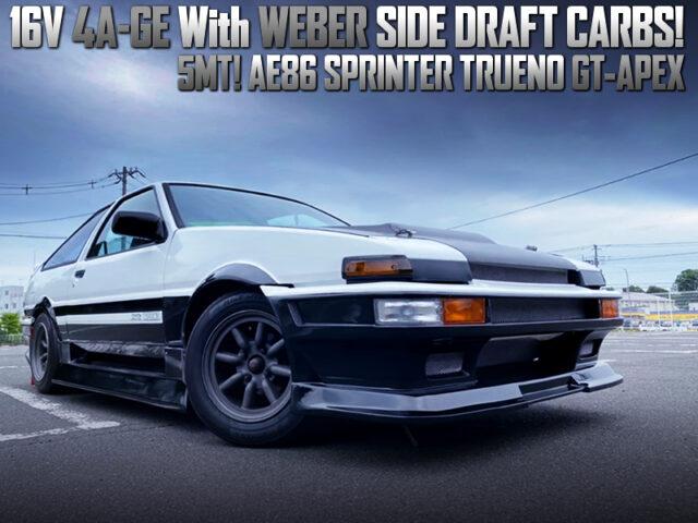 WEBER CARBS on 16V 4AGE MODIFIED AE86 TRUENO GT-APEX.