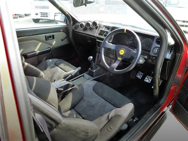 INTERIOR OF AE86 TRUENO 3-DOOR GTV.