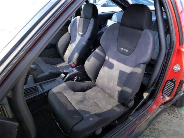 RECARO SEATS OF AE86 TRUENO 3-DOOR GTV.