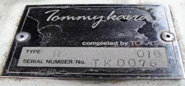 TOMMYKAIRA SERIAL PLATE NUMBER.