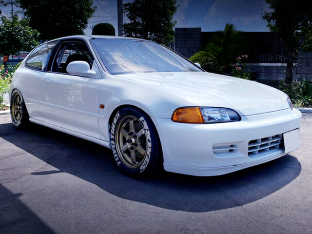 FRONT EXTERIOR OF EG6 CIVIC SiR.