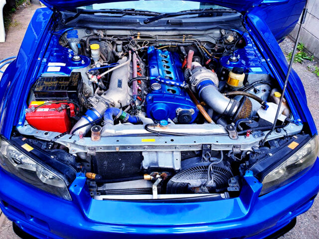 RB25DET with 2.6L STROKER and HKS GT3037 TURBO.