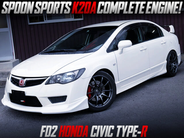 SPOON K20A COMPLETE ENGINE INSTALLED FD2 CIVIC TYPE-R.