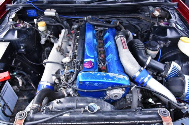 RB26DETT TWIN TURBO ENGINE.