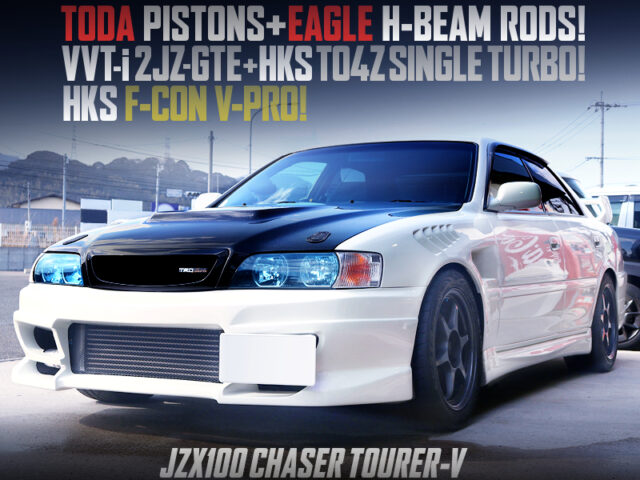 2JZ-GTE with TO4Z SINGLE TURBO and 5MT MODIFIED JZX100 CHASER TOURER-V.