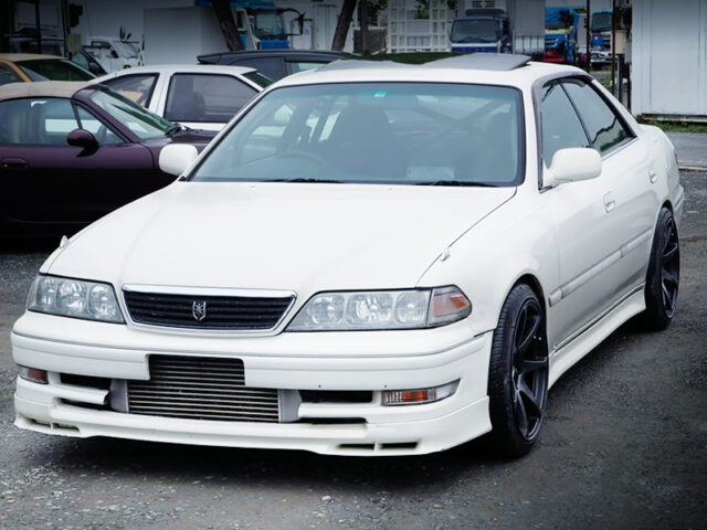FRONT EXTERIOR OF JZX100 MARK 2 TOURER-V to PEARL WHITE.