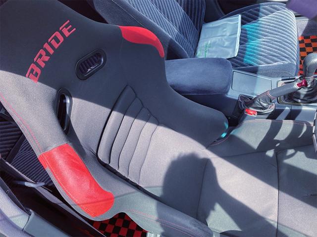 DRIVER'S BRIDE SEAT SETUP OF JZX100 MARK2 INTERIOR.
