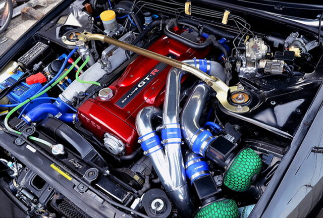 RB26 with 2.7L and R34 N1 TWIN TURBO.
