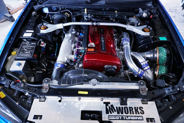 RB26DETT with 2.8L and GT3-RS TWINTURBO.