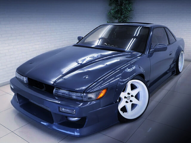 FRONT EXTERIOR OF S13 SILVIA With FENDER FLARES.