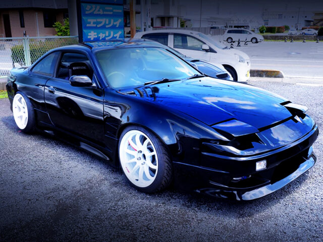 FRONT EXTERIOR OF S14 SILVIA with ONEVIA CONVERSION.