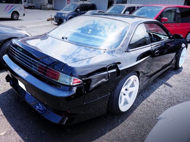 REAR EXTERIOR OF S14 SILVIA with ONEVIA CONVERSION.