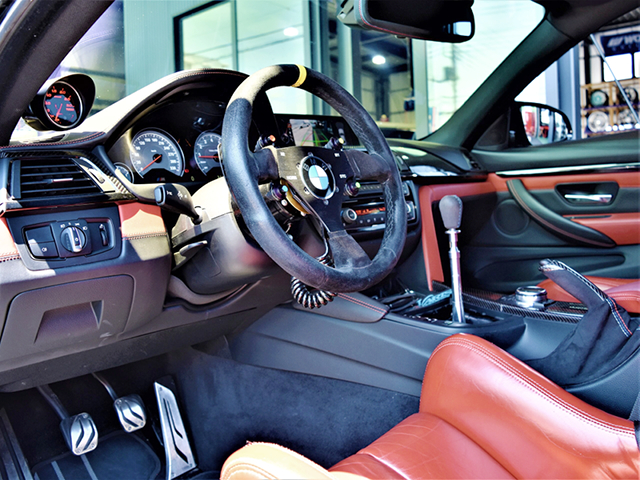 LEFT HAND DRIVE DASHBOARD OF F82 BMW M4.