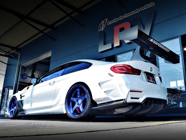 REAR EXTERIOR OF F82 BMW M4 COUPE.