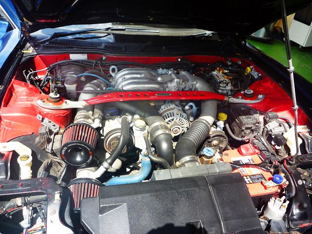 13B-REW ROTARY TWIN TURBO ENGINE.