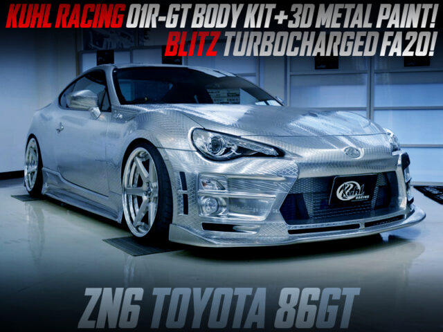 KUHL 01R-GT BODY KIT and 3D METAL PAINT MODIFIED TOYOTA 86GT.