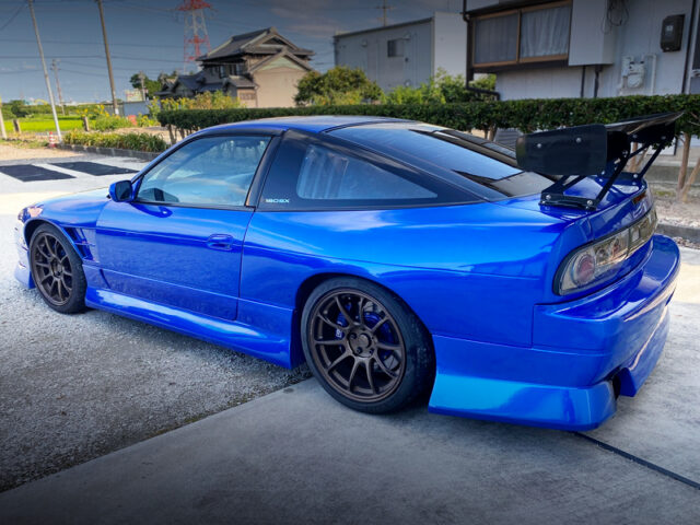 REAR SIDE EXTERIOR OF RPS13 NISSAN 180SX.