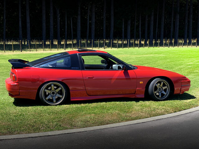 RIGHT SIDE EXTERIOR OF S13 NISSAN 200SX.